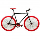 2016 red tire black fixed bike